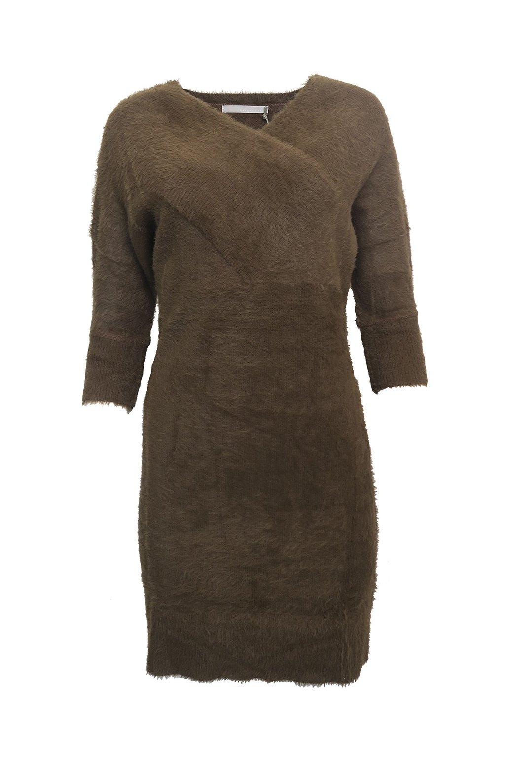 Chlupaté svetříkové šaty YAYA