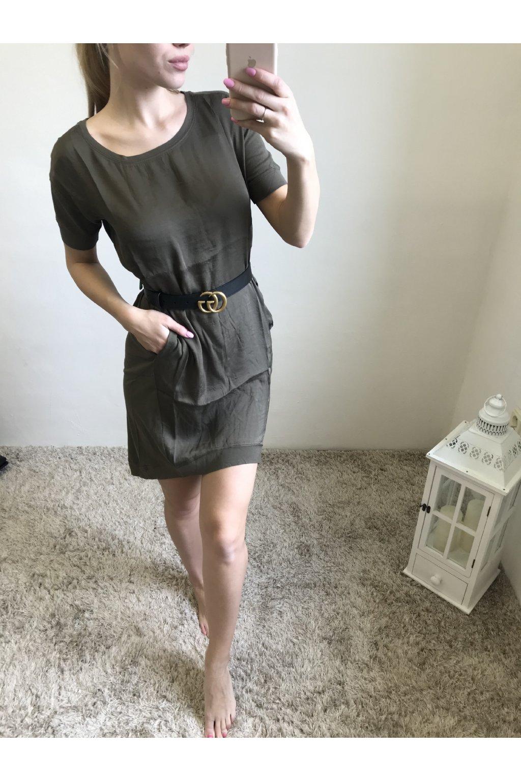 Kombinované šaty s kapsami YAYA