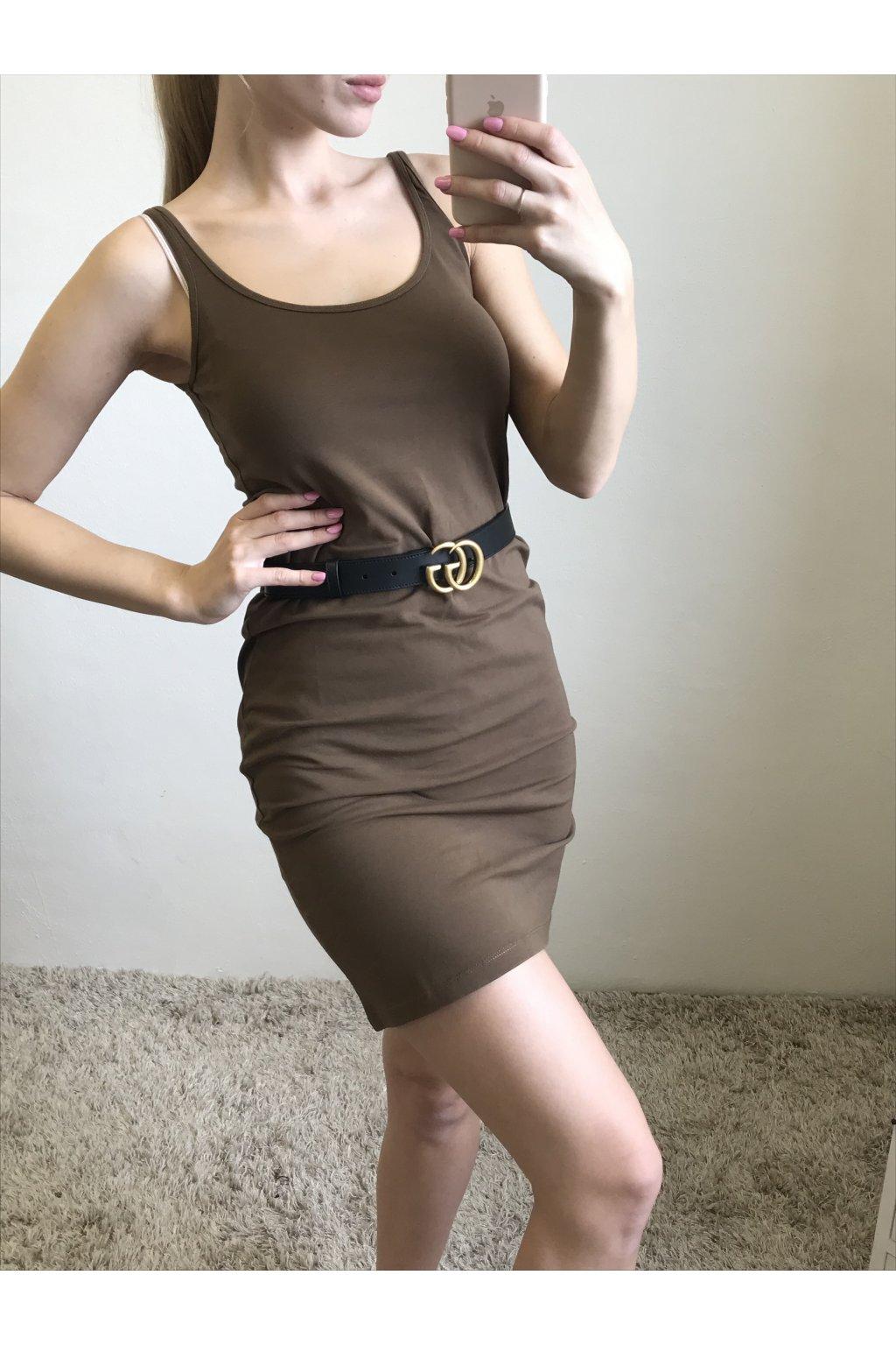Bavlněné šaty na ramínka YAYA