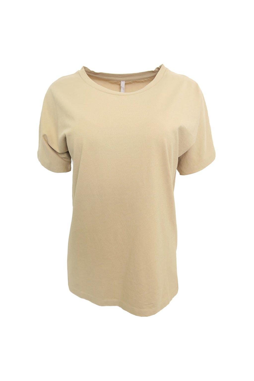 Bavlněné okrové triko YAYA