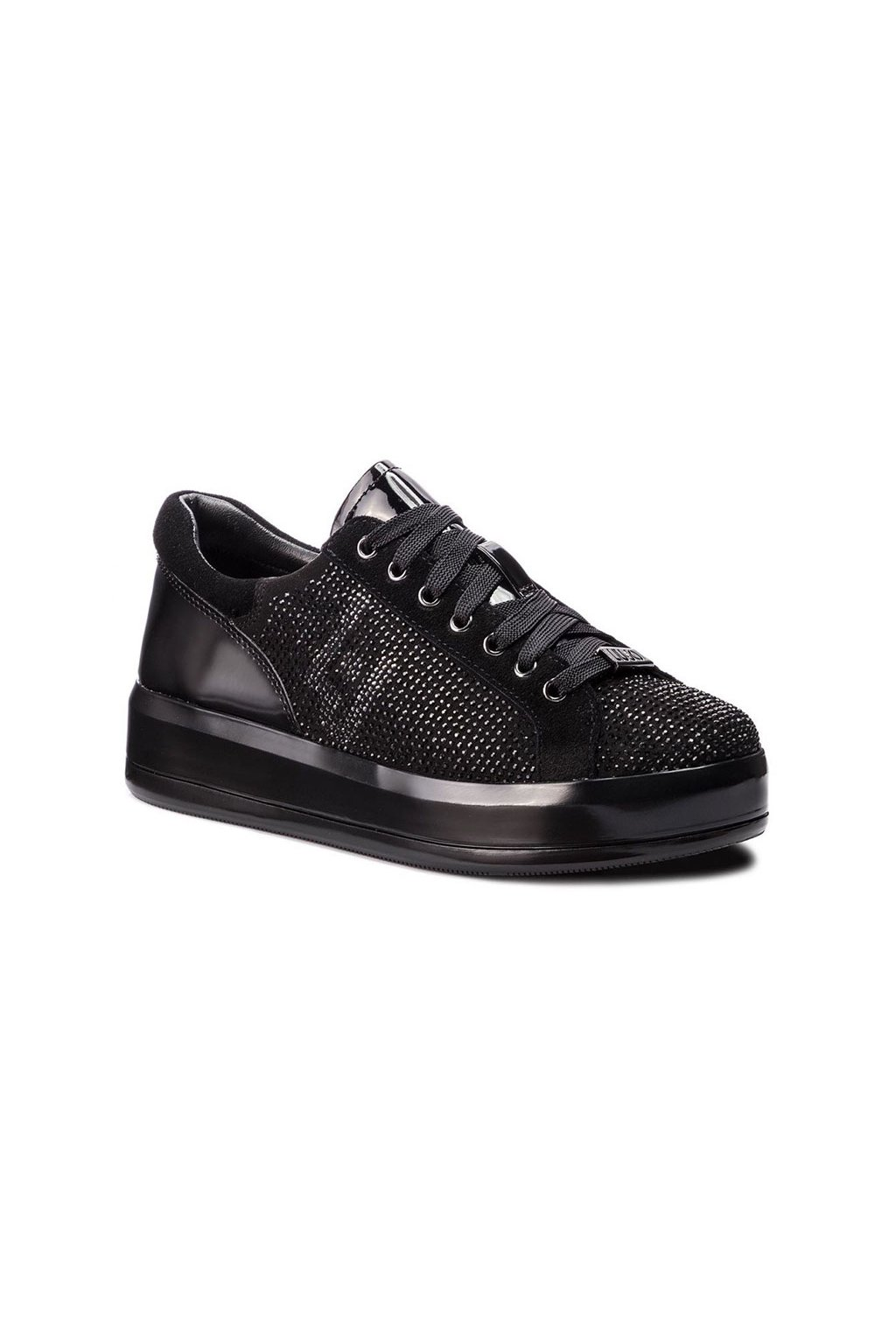 LIU JO Kim 07- lace up microfiber black