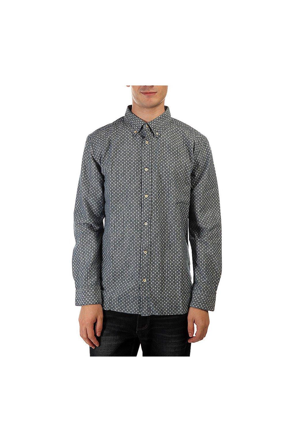 Vzorovaná šedá košile Quiksilver