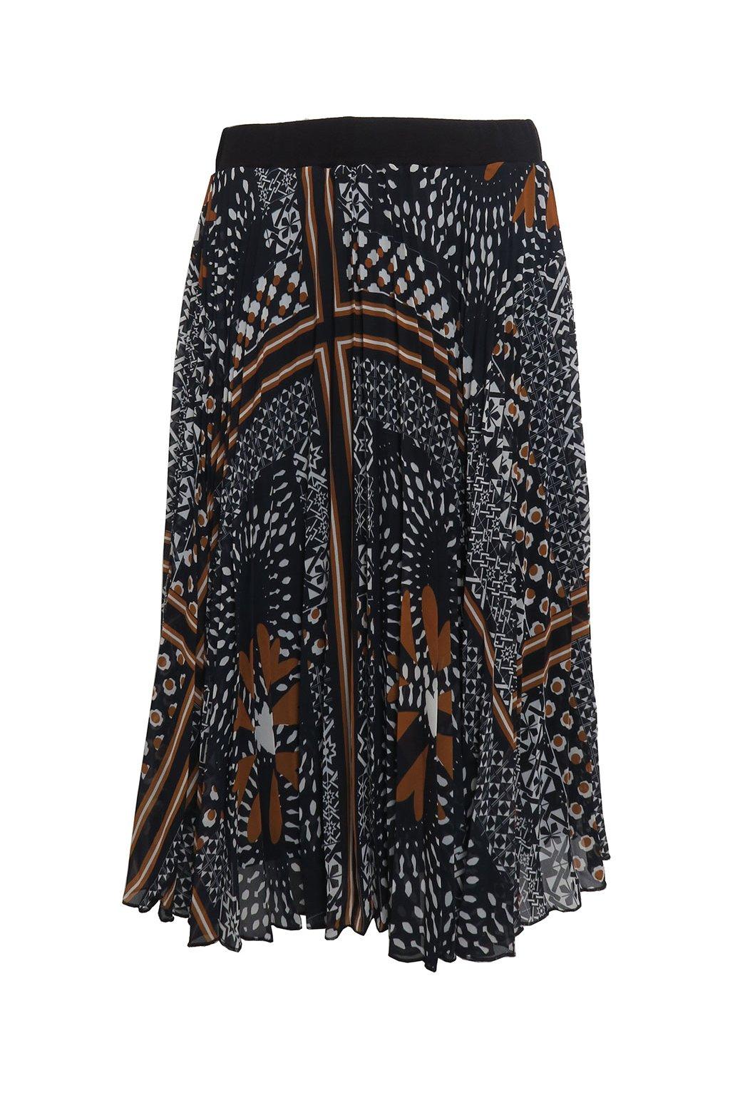 Skládaná sukně se vzorem Desigual