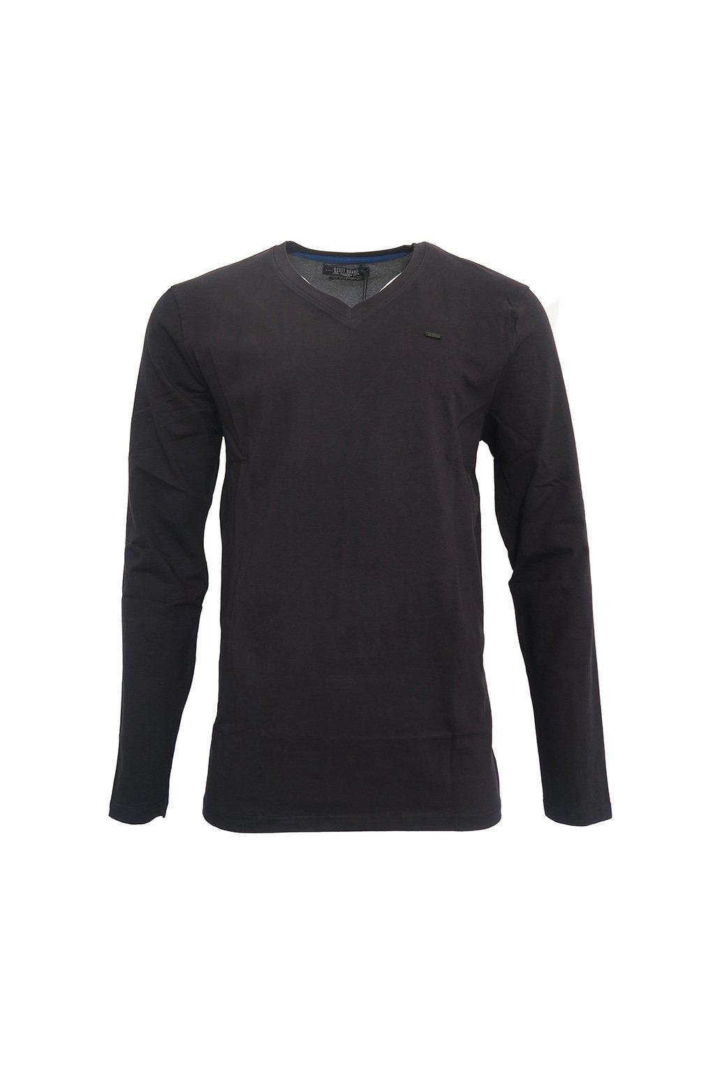 Černé triko s dlouhým rukávem Scott