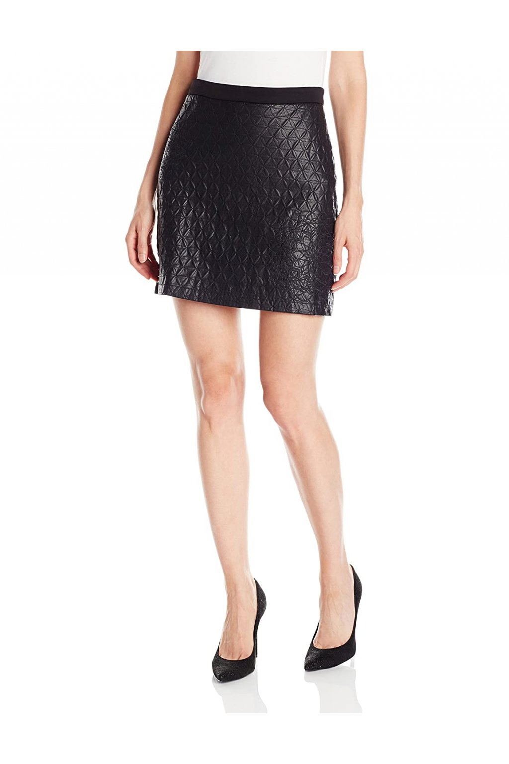 Koženková černá sukně Desigual