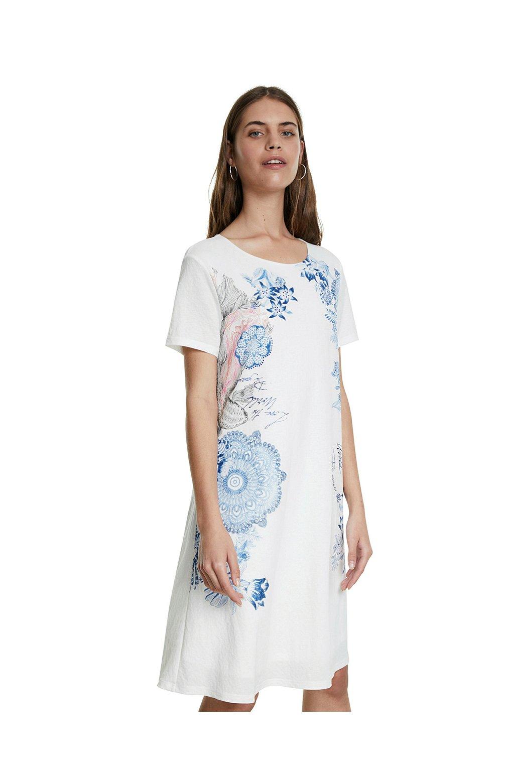 Bílé šaty Charlotte Desigual 20SWVK57