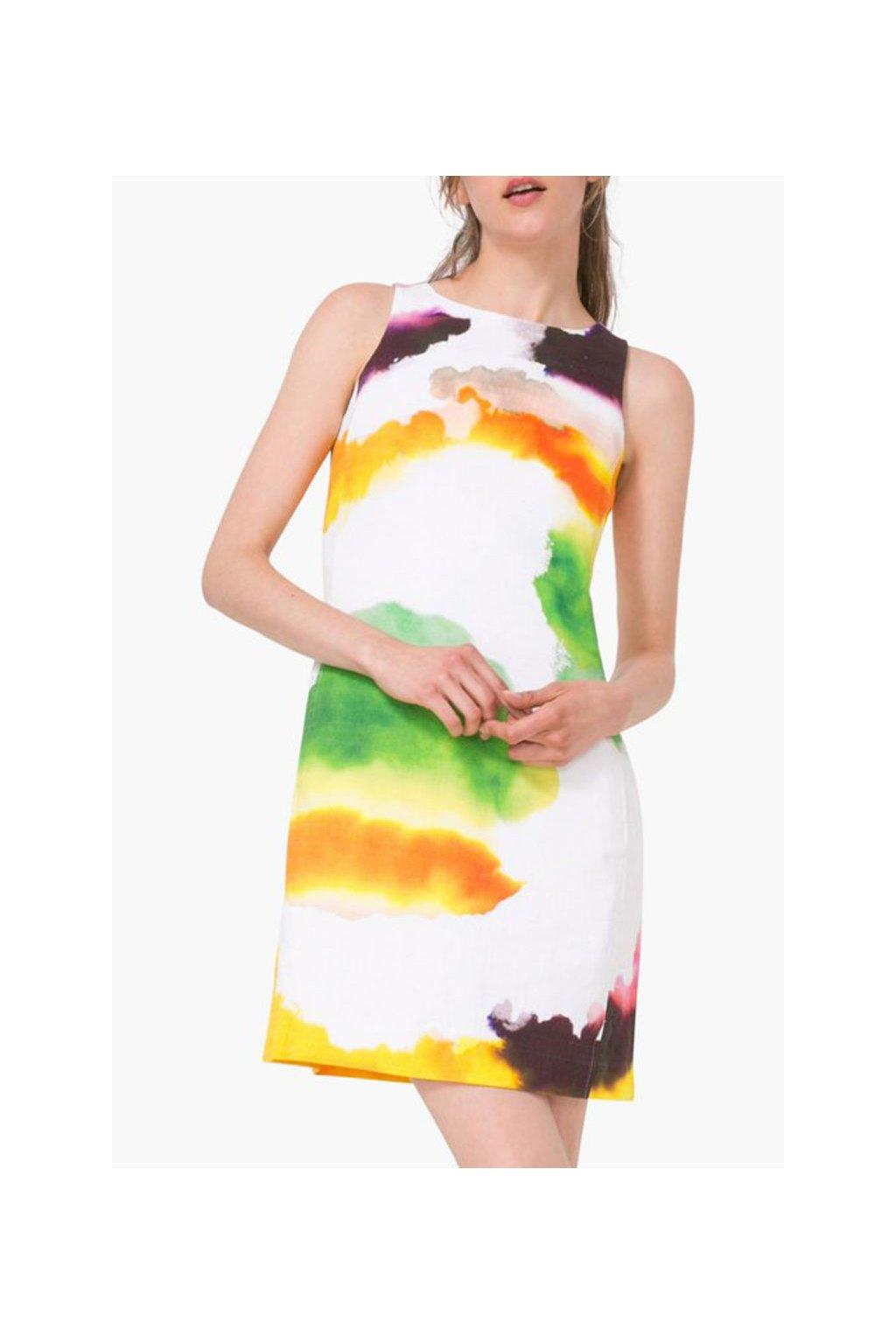 Skvrnité šaty Desigual 72v2ww4/1000