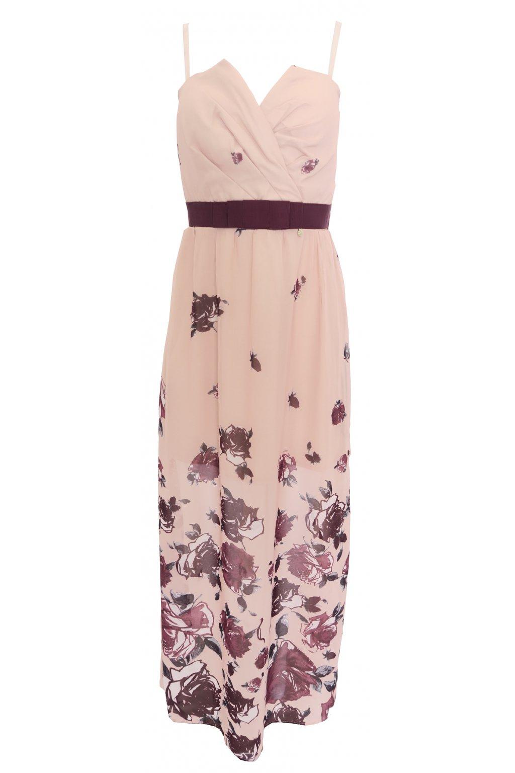 Dlouhé růžové šaty Rinascimento