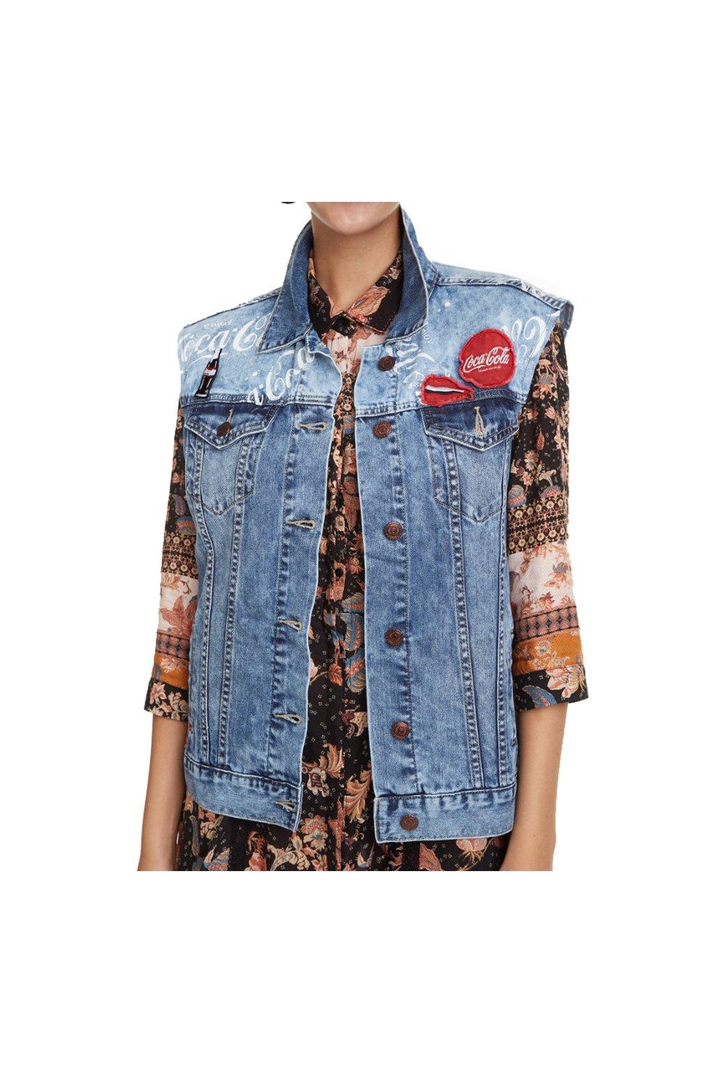 Riflová vesta Desigual 18WWEDX7/5183