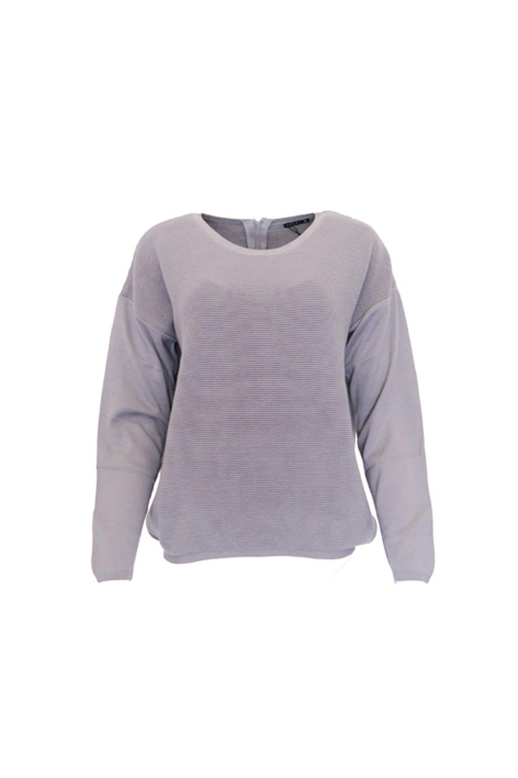 Šedý svetr s krystalky Bréal