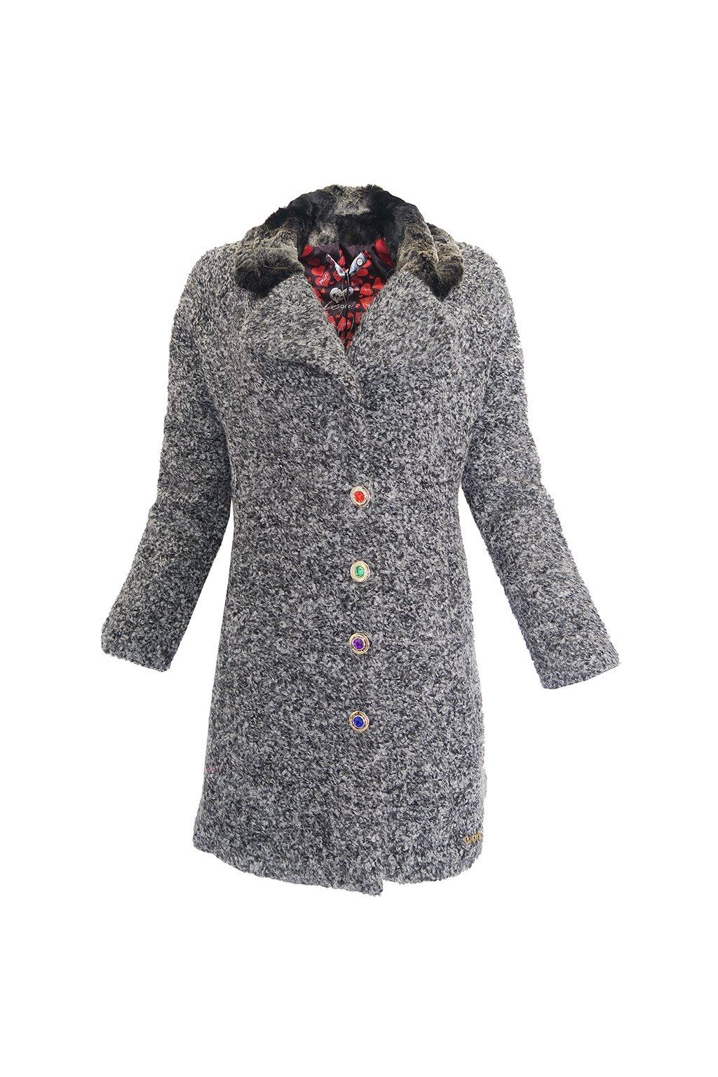 Šedý kabát Desigual