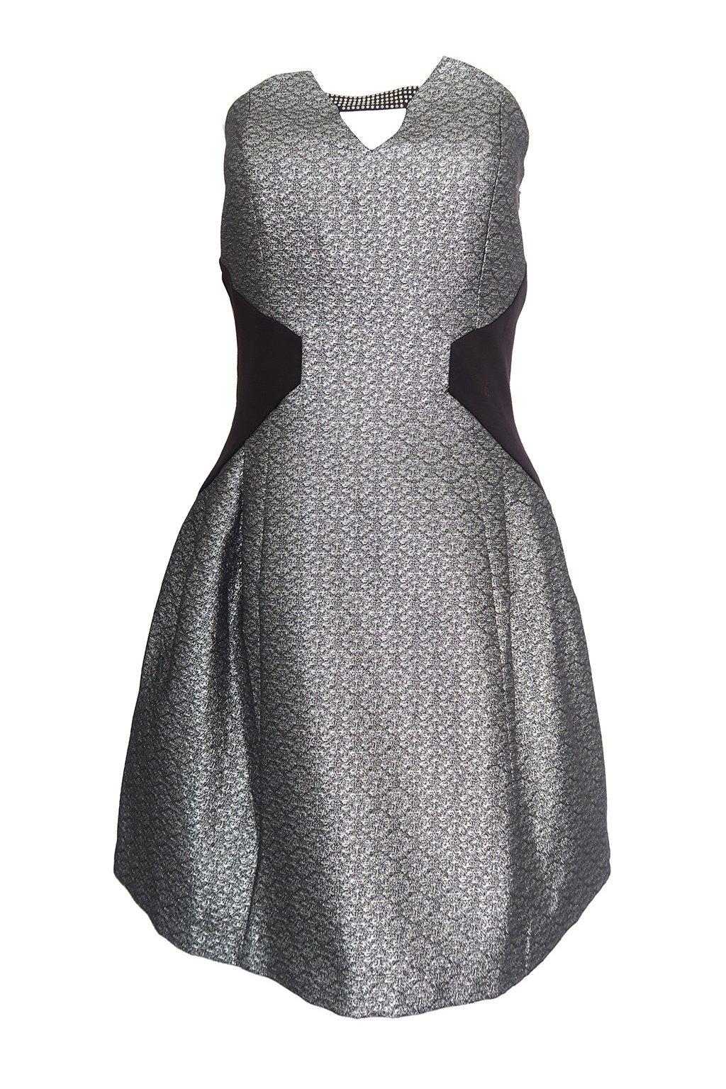 Stříbrné šaty MORGAN