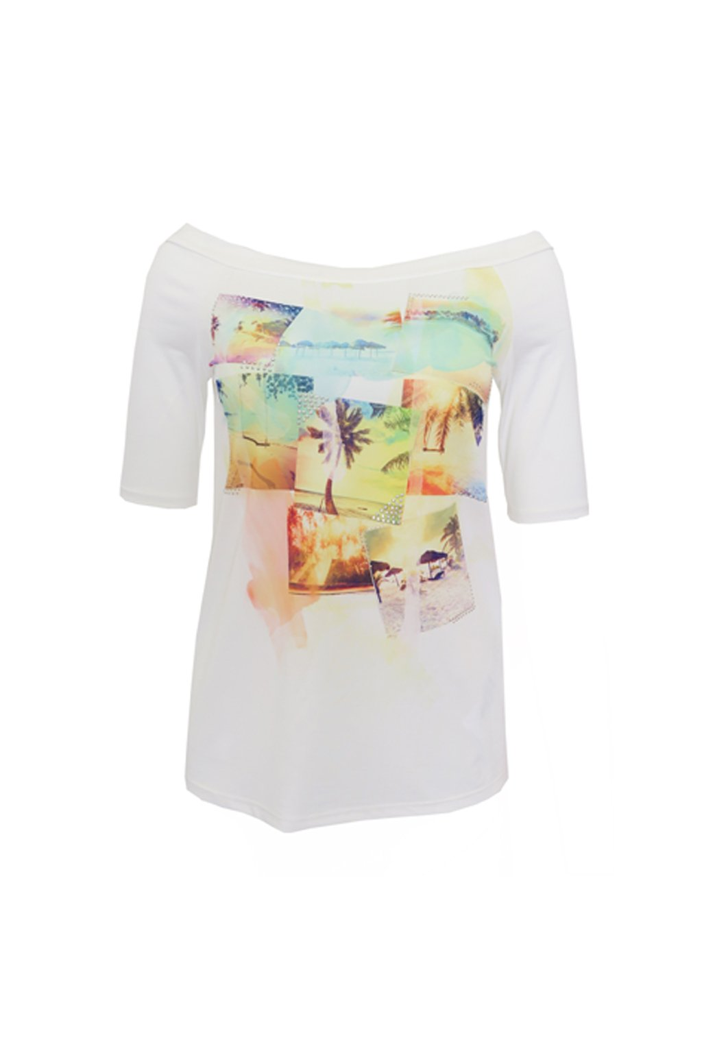 "Bílé tričko ""na pláži"" Bréal"