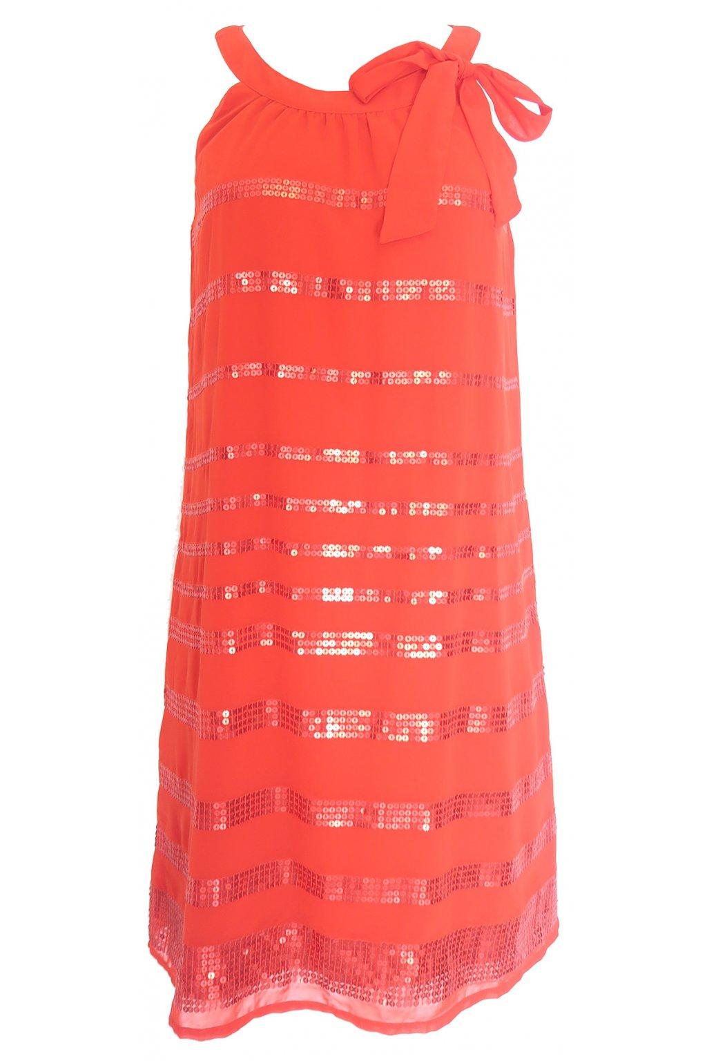 Šaty s flitrovanými pásky CACHE CACHE