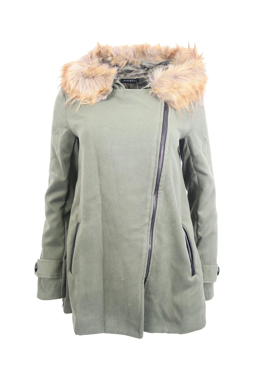 d6cdd75f6b Khaki kabátek Made in Italy - BERTOO
