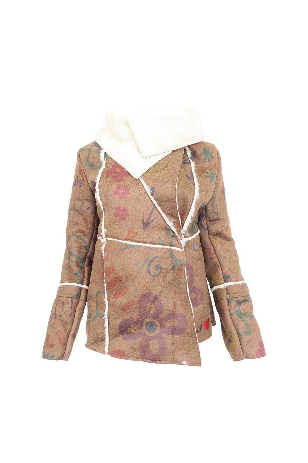 Hnědý kabátek DESIGUAL