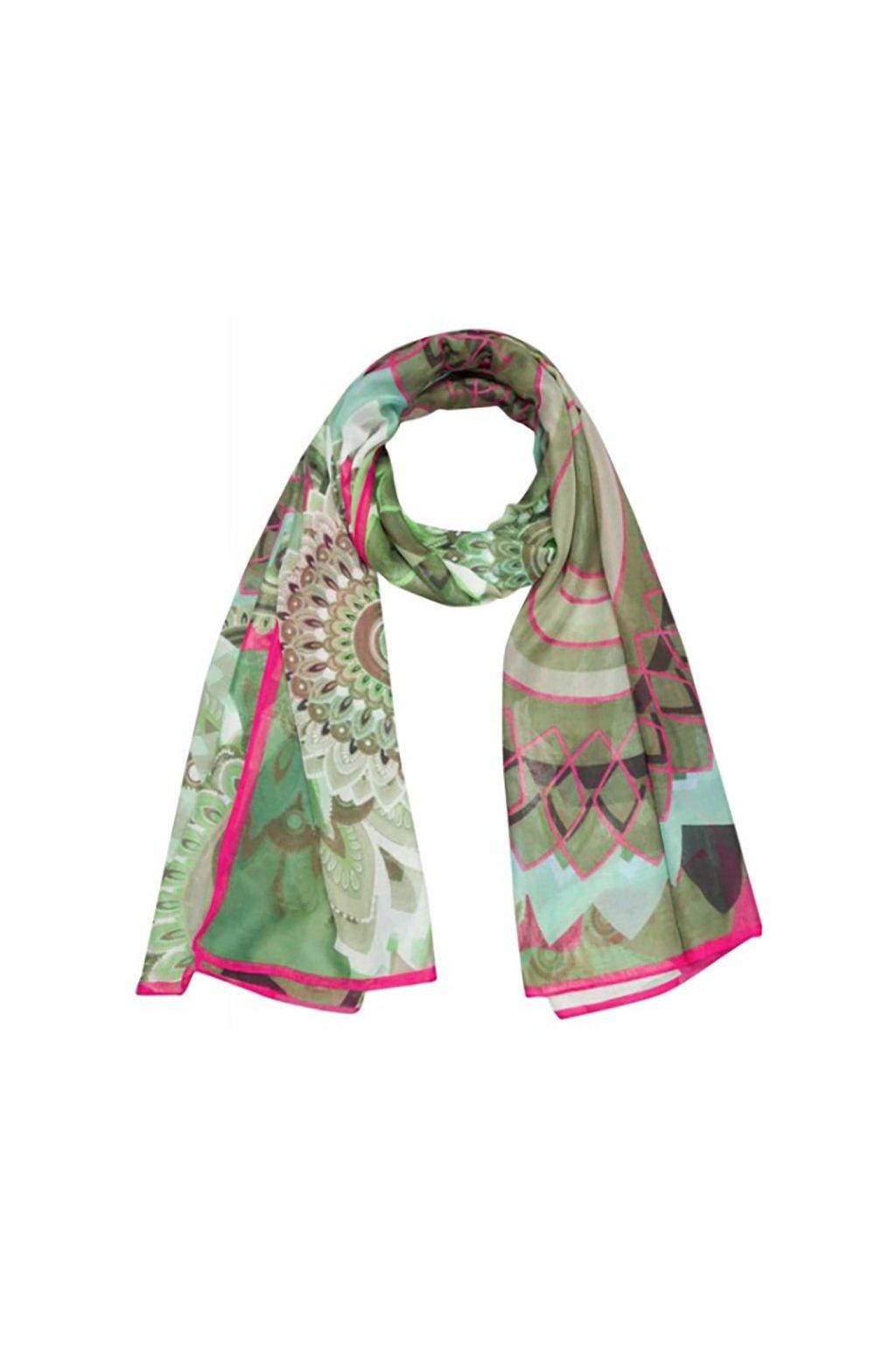 Khaki šátek DESIGUAL
