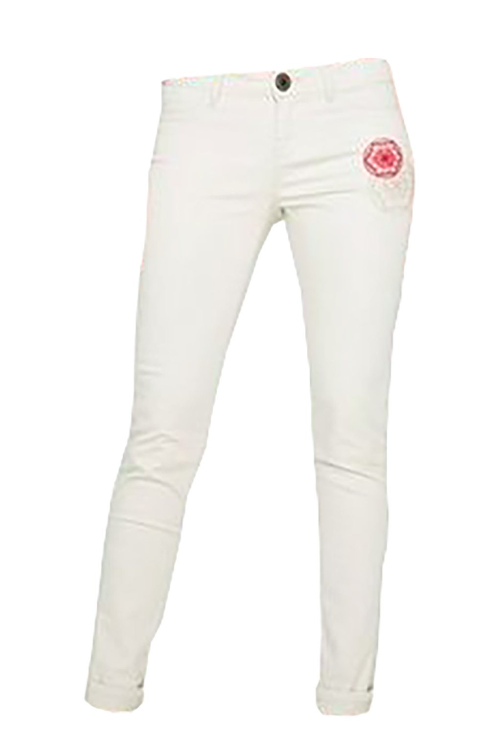 Pískové slim kalhoty Desigual