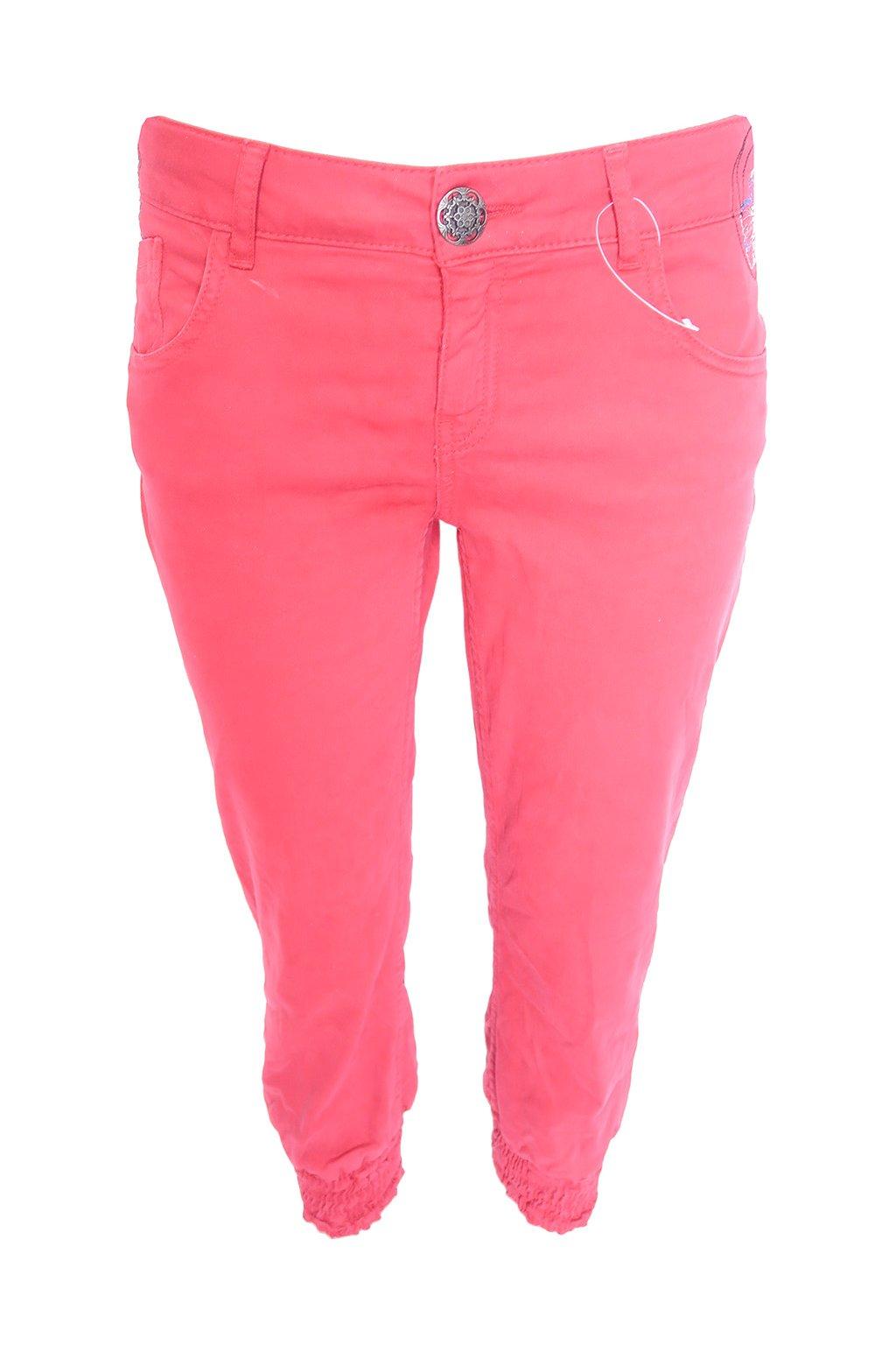 Barevné 3/4 kalhoty s výšivkami Desigual