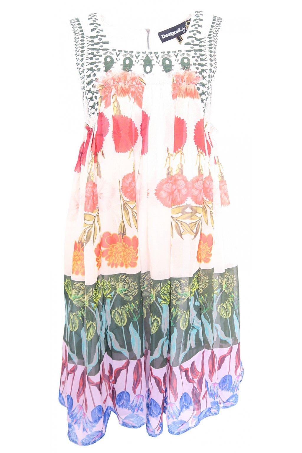 Desigual lehké barevné šaty