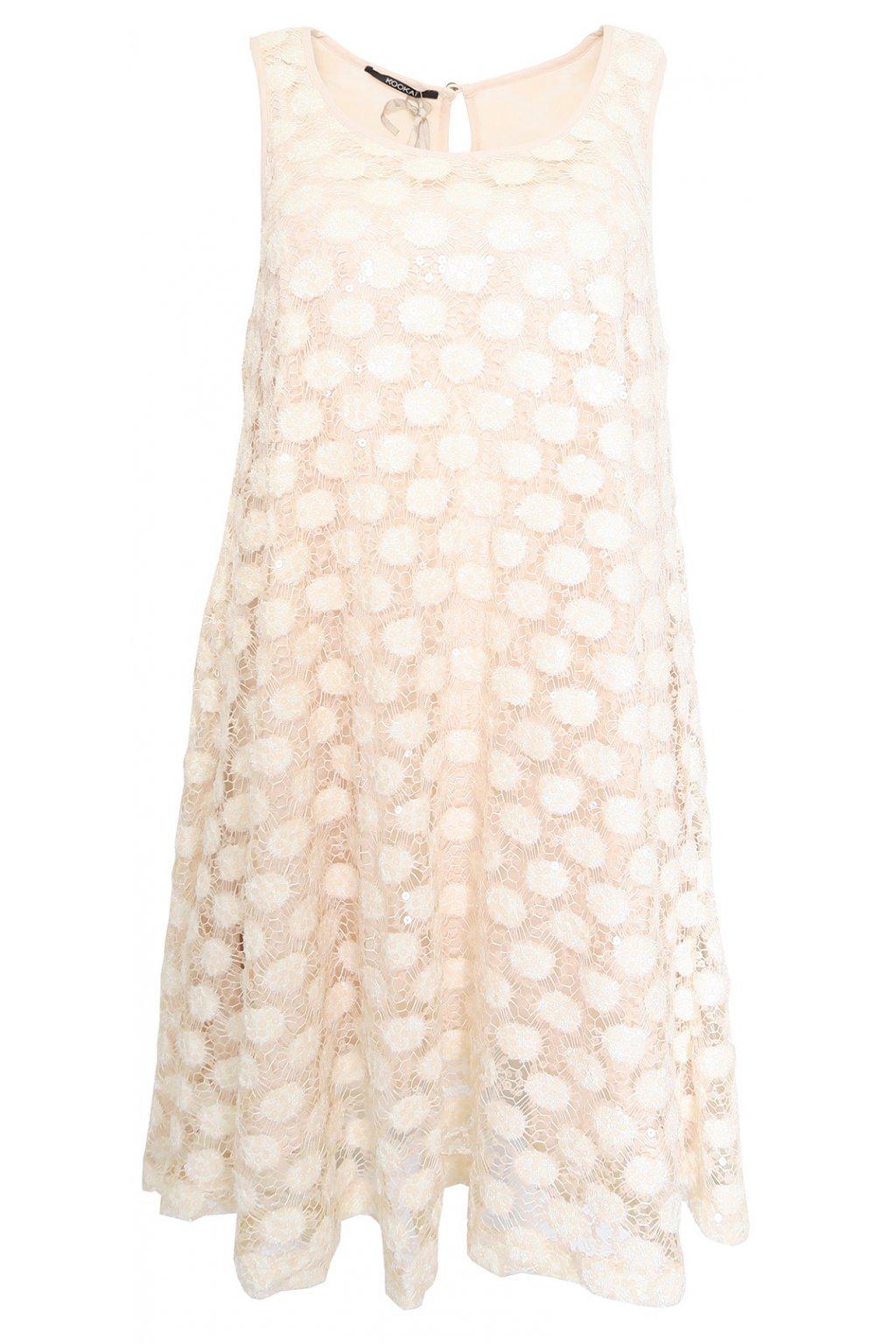 Lesklé lososové šaty Kookaï