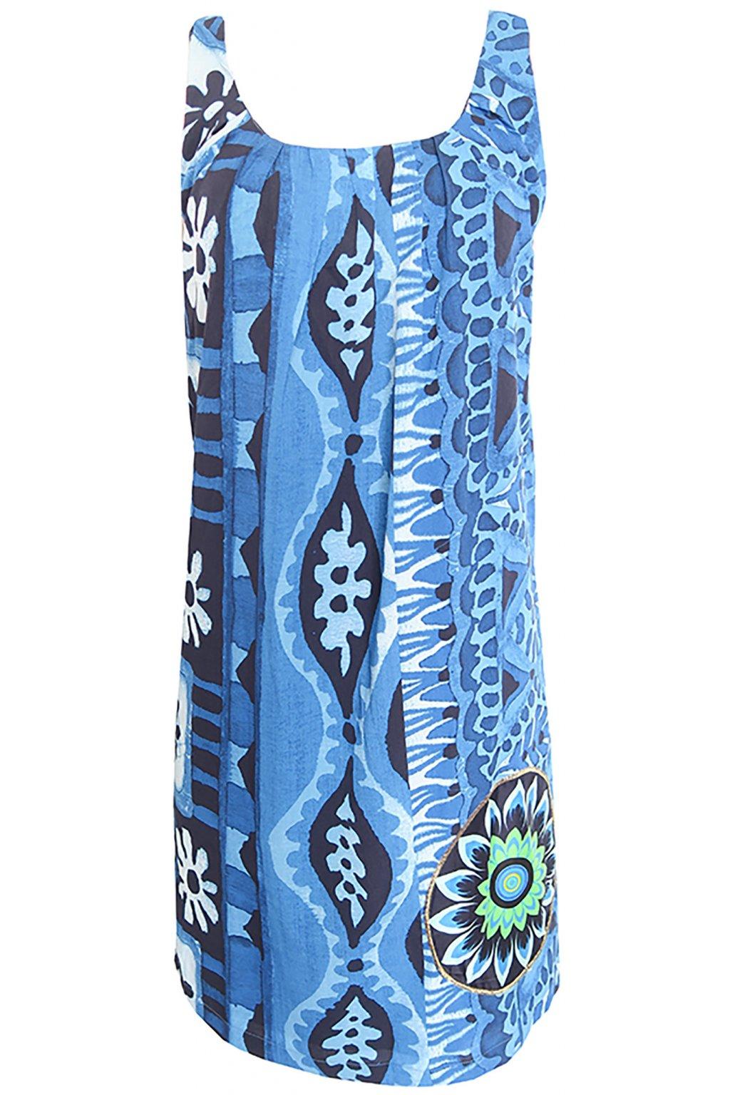 Desigual modré květované šaty