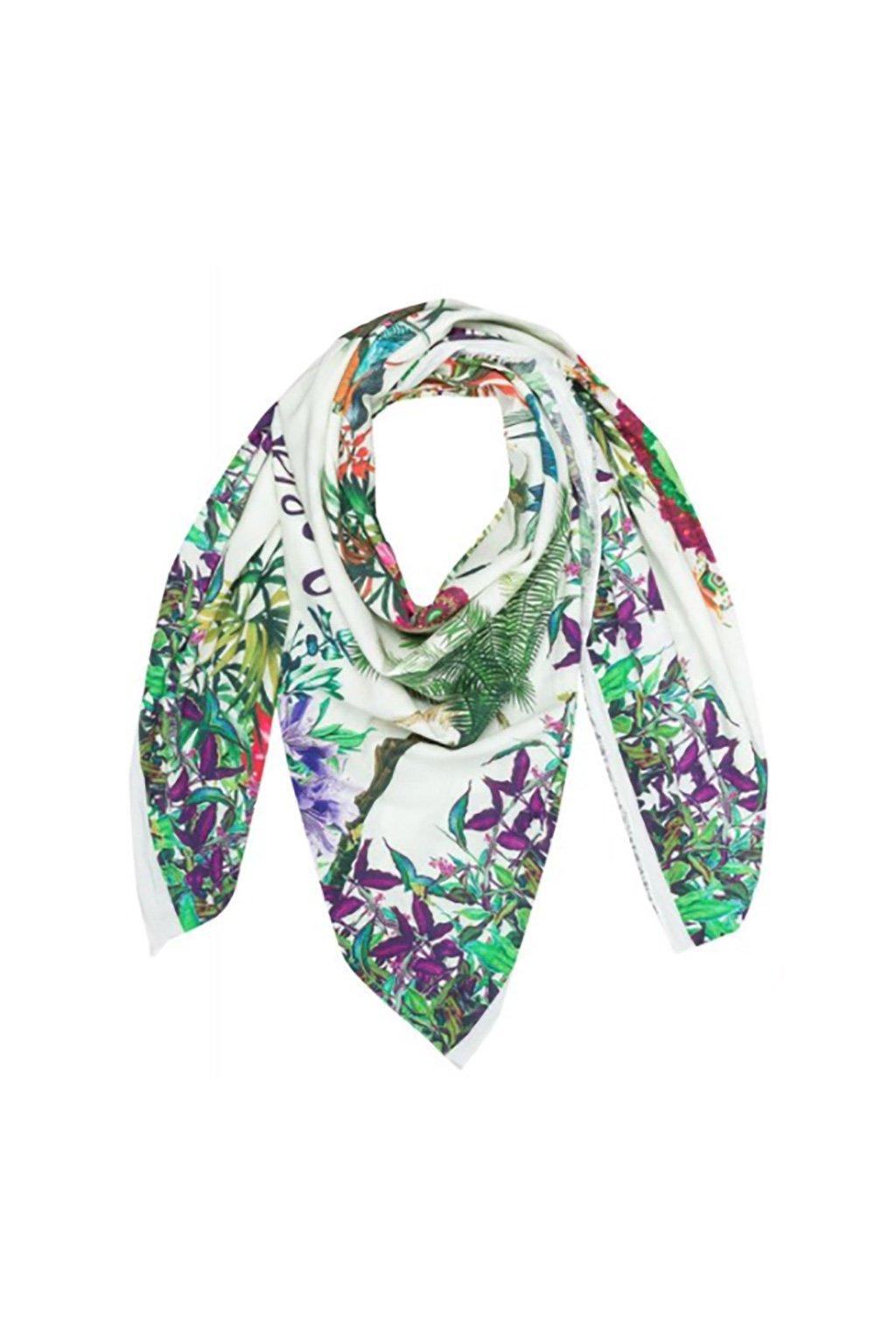 Fialovozelený šátek Desigual