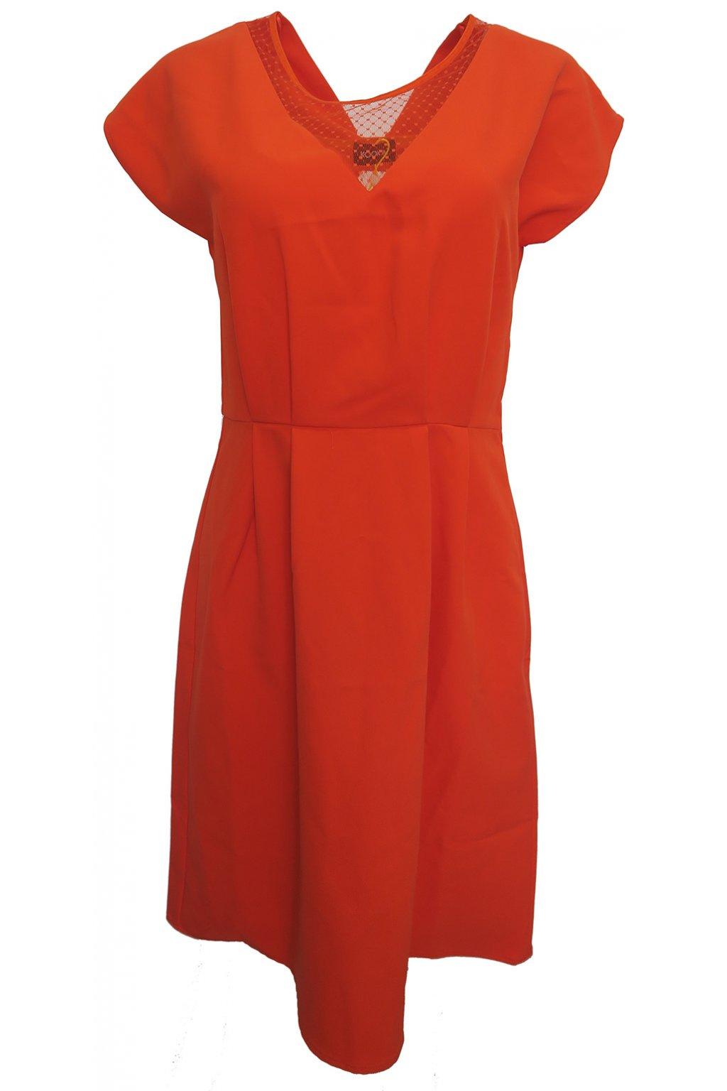 Červené šaty Kookai