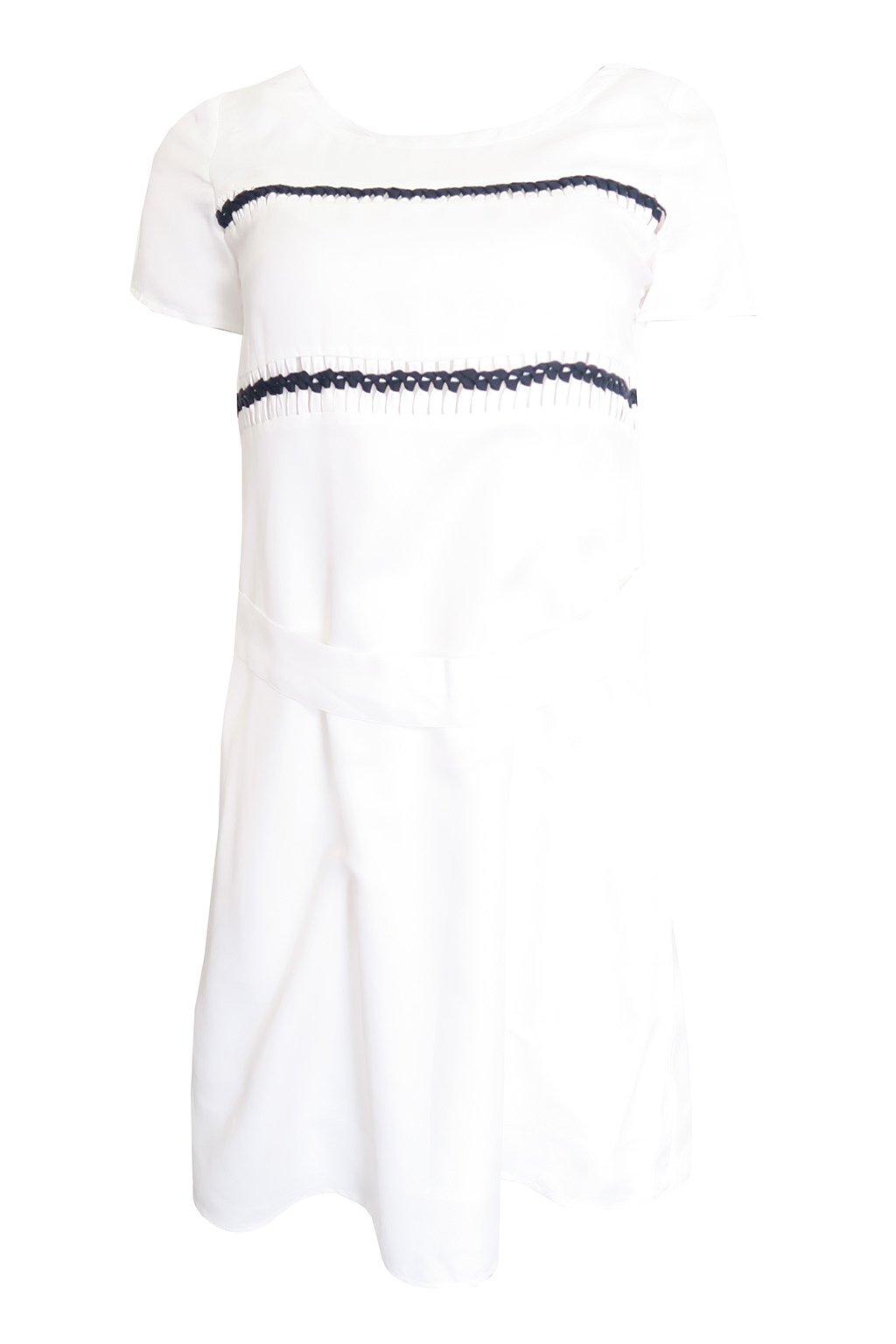 Bílé zdobené šaty Kookai