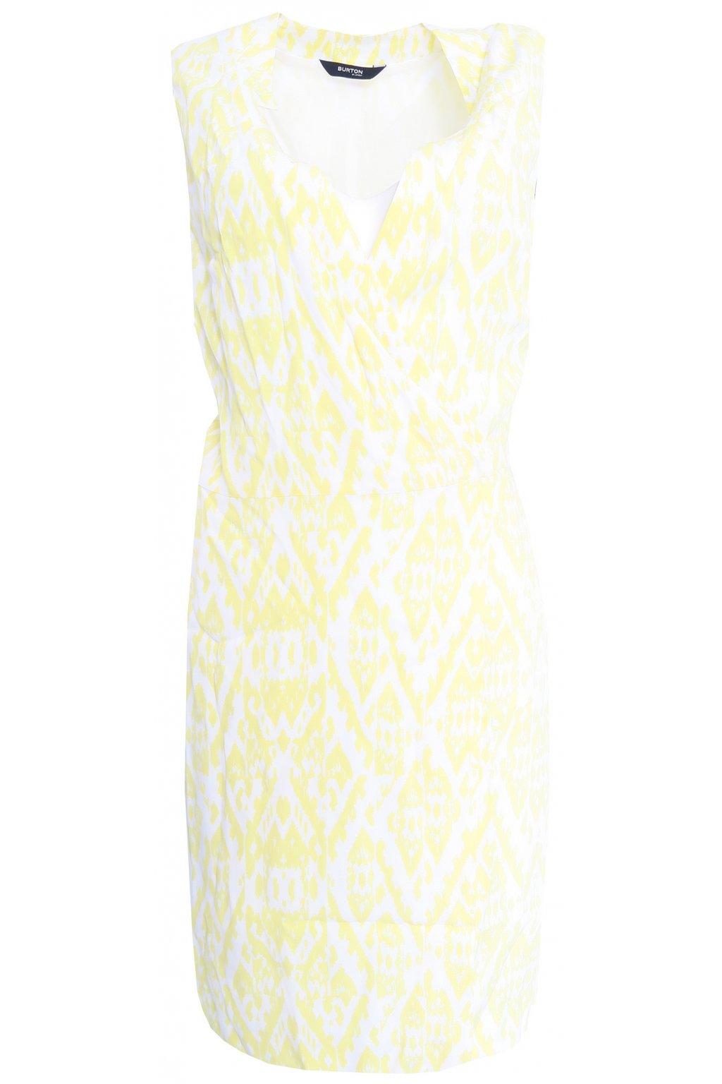 Žluté zavinovací šaty Burton