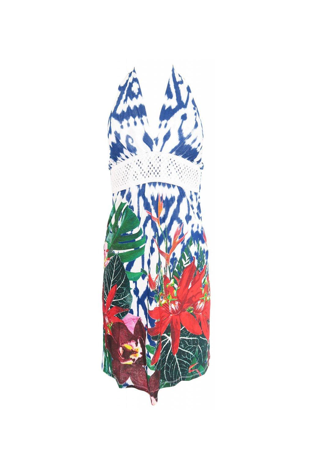 Desigual barevné batikované šaty