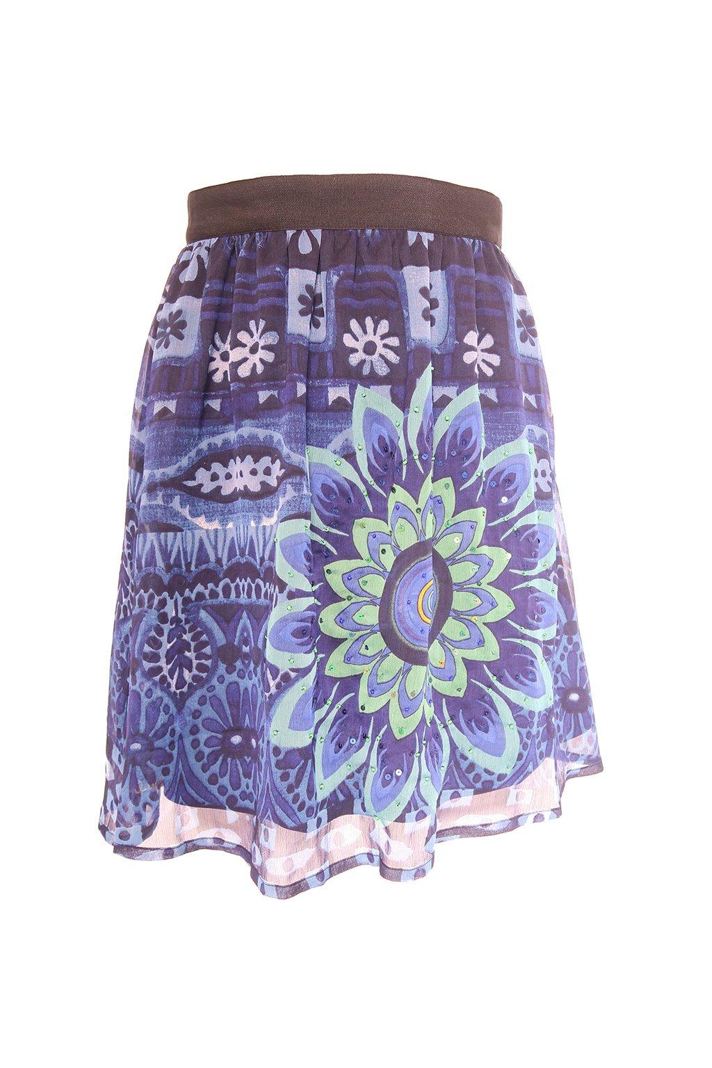 Desigual modrozelená sukně