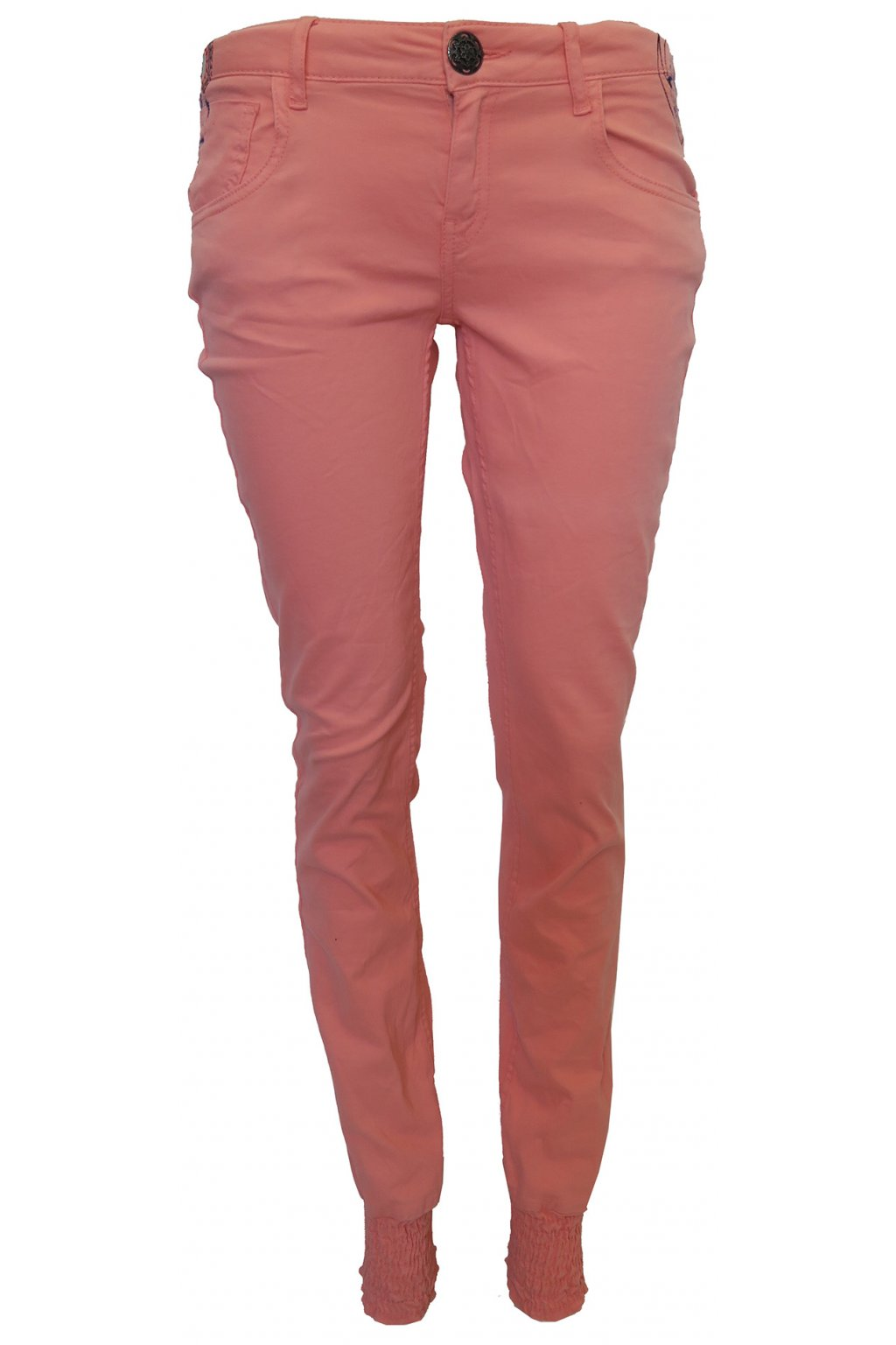 Desigual barevné kalhoty s výšivkou