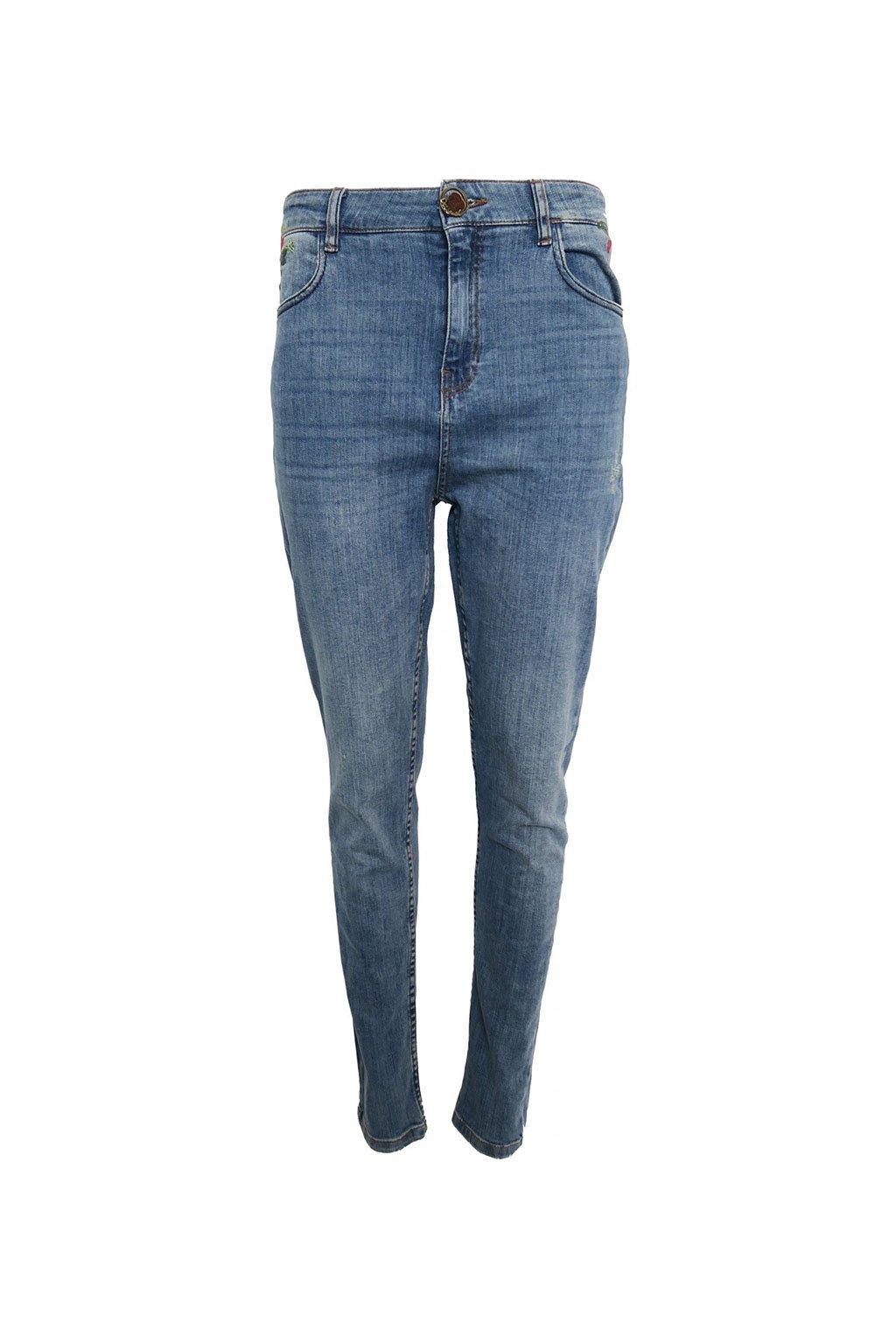 Desigual džíny s barevnými výšivkami