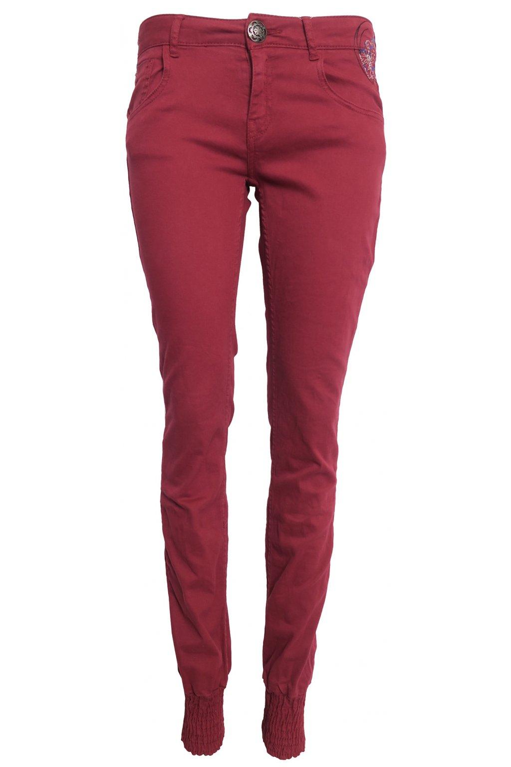 Desigual barevné džíny s výšivkami