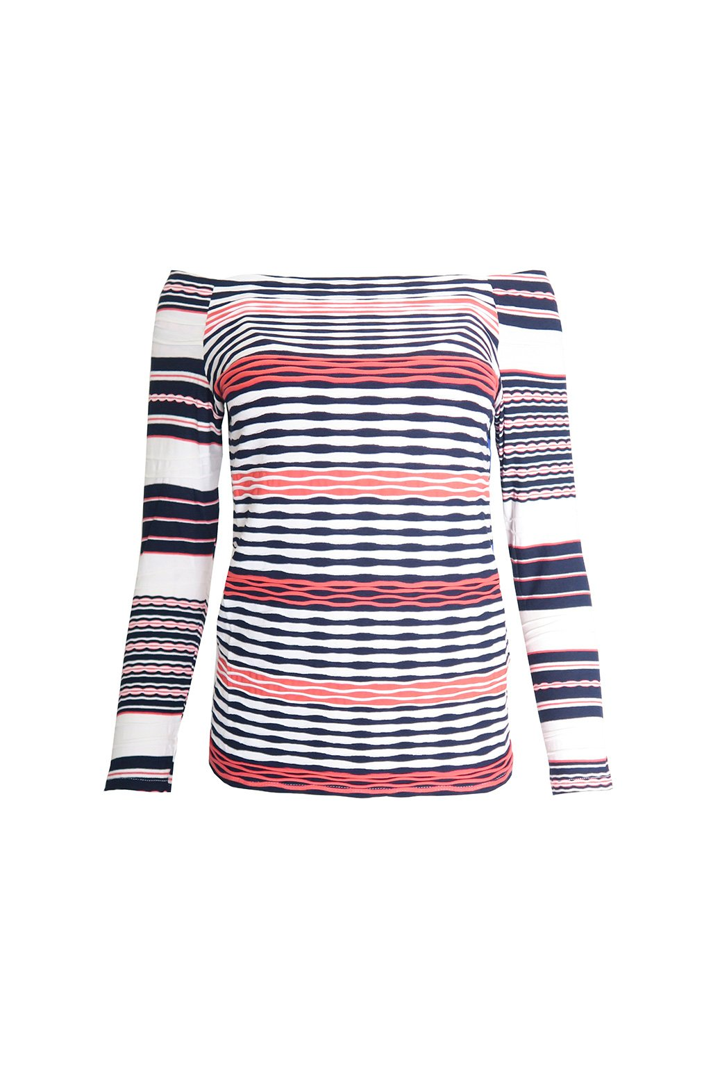 Desigual úpletové pruhované triko
