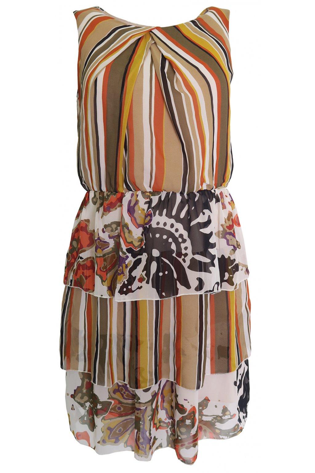 Barevné šaty s volány Rinascimento