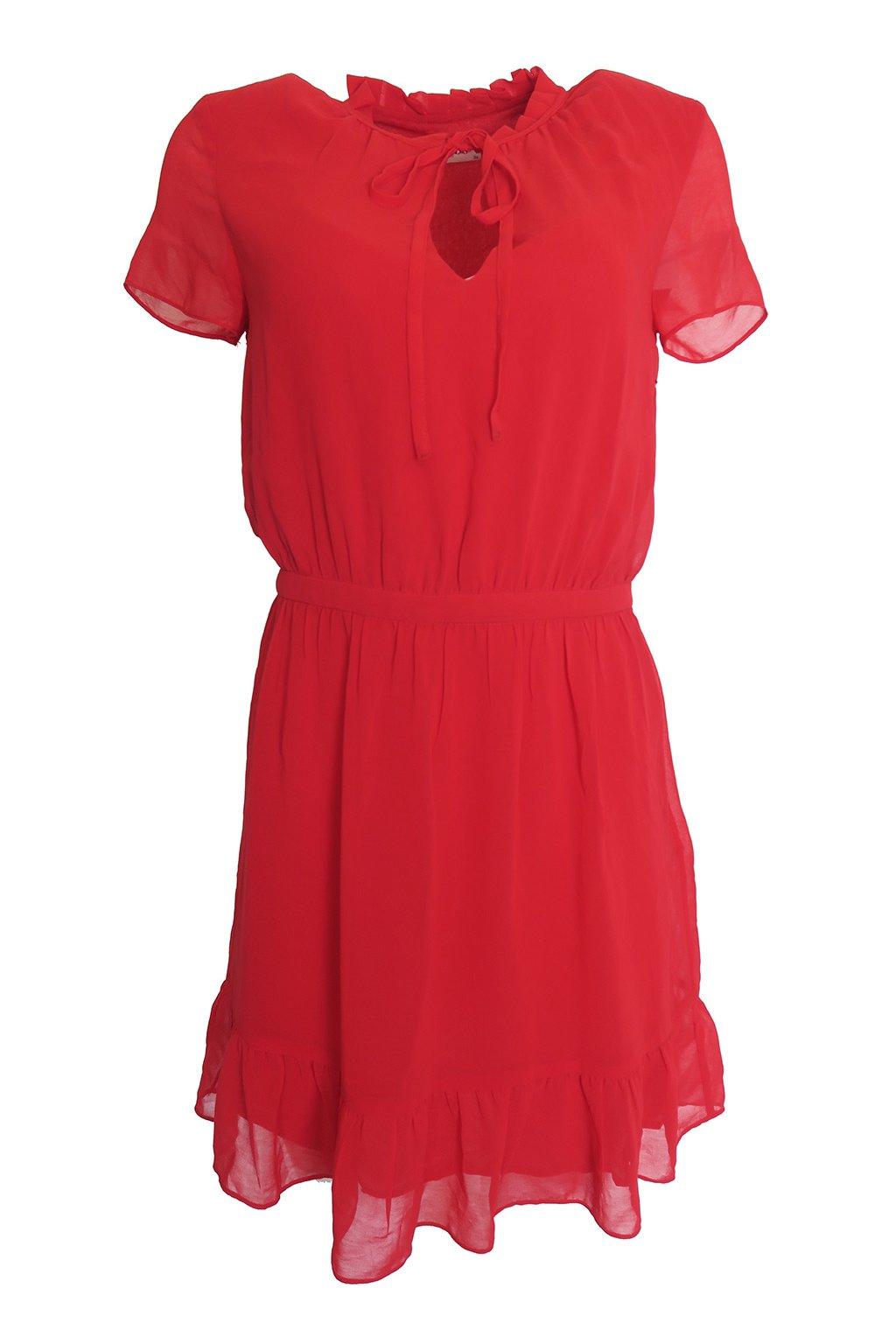 Červené šaty Naf Naf