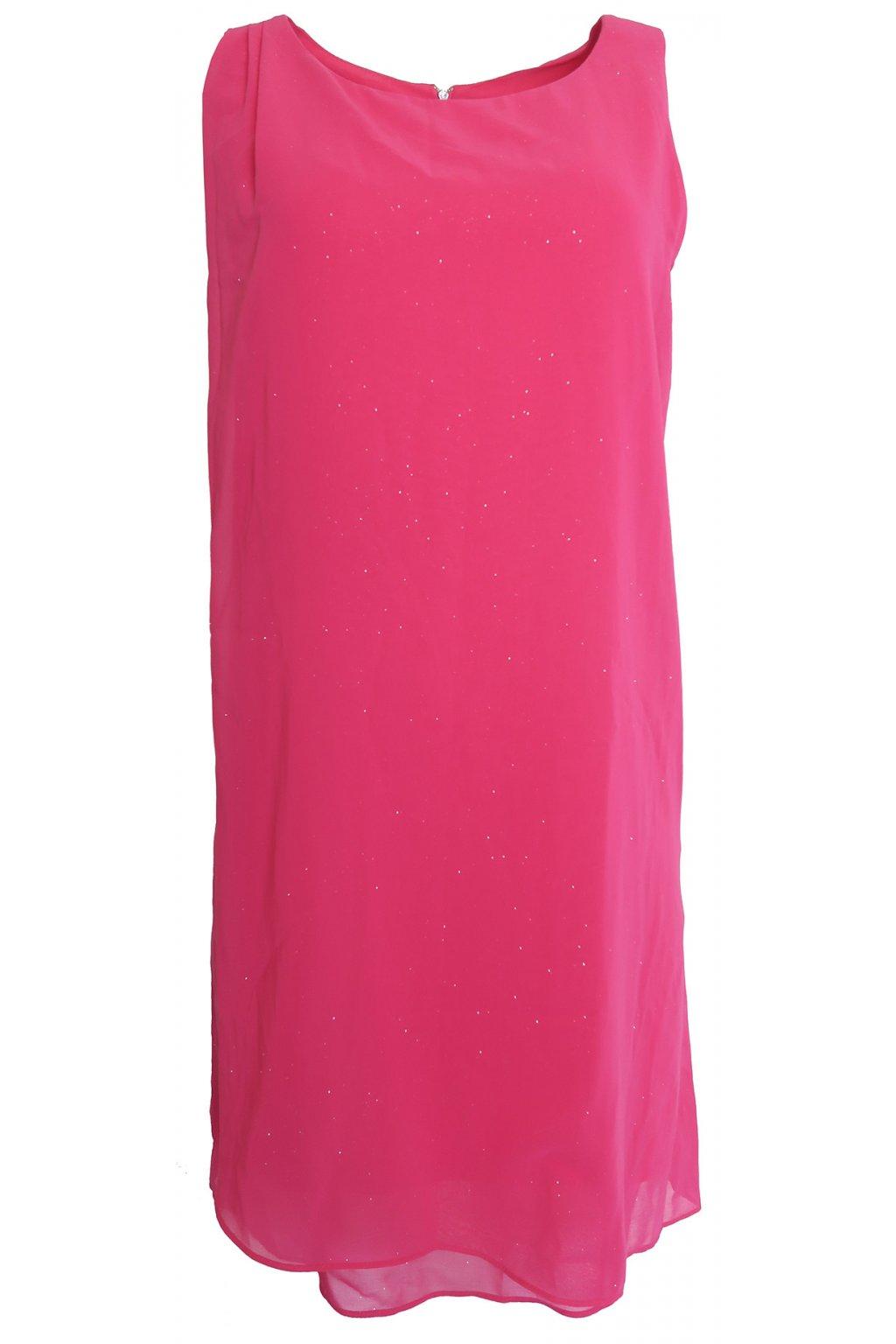 Růžové třpytivé šaty Naf Naf