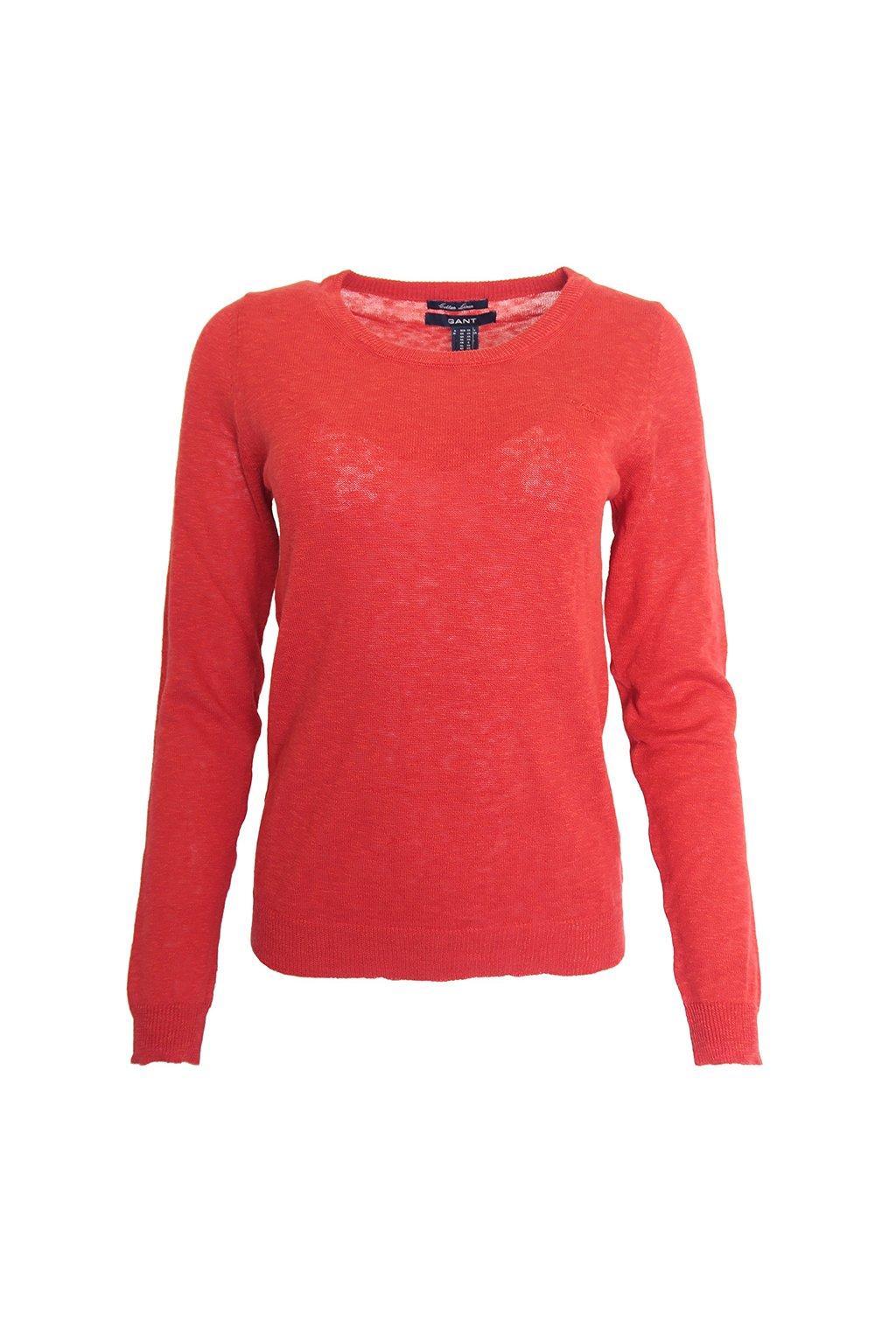 Červený tenký svetřík Gant