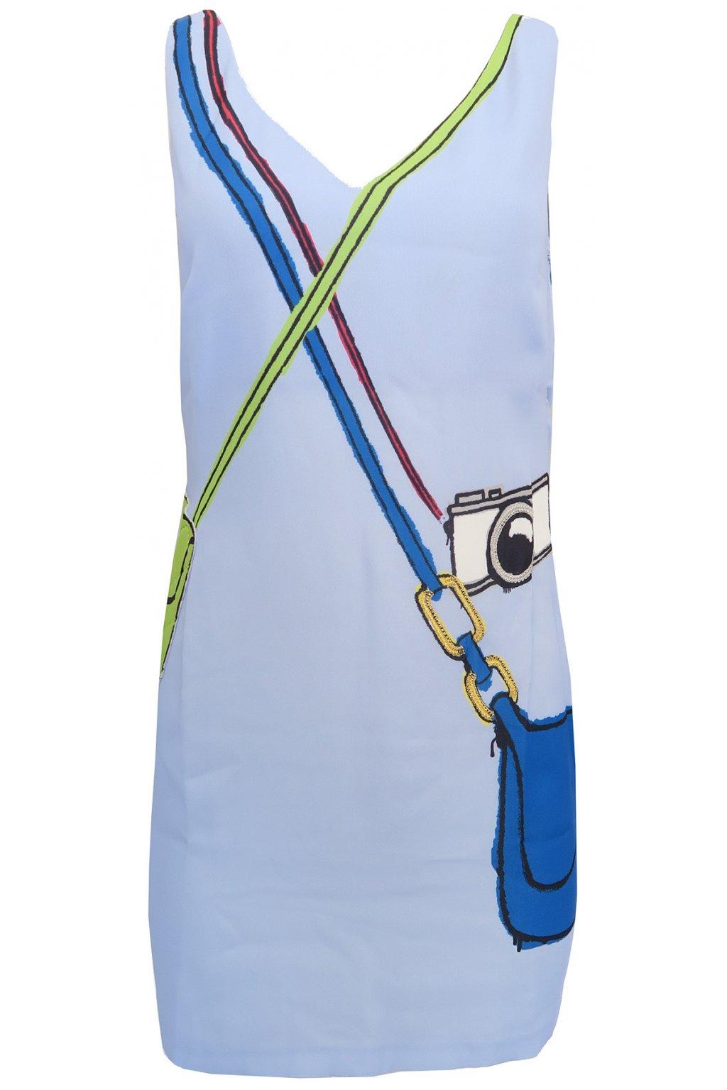 Světle modré zdobené šaty Desigual