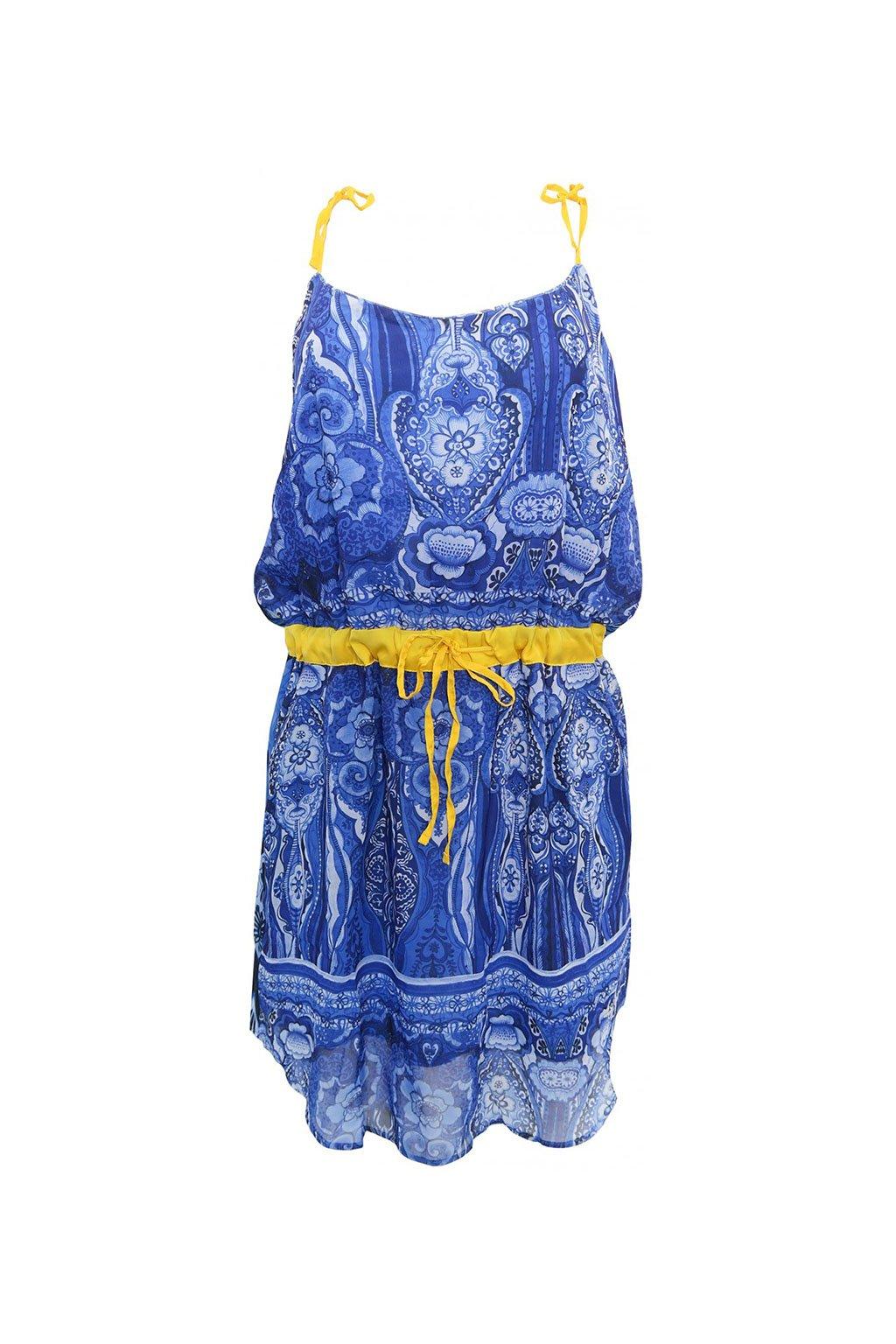Desigual modré vzorované šaty