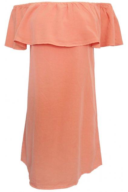 Meruňkové peplum šaty Pimkie