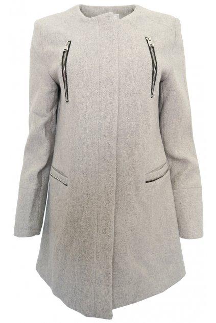 Šedý kabát Pimkie