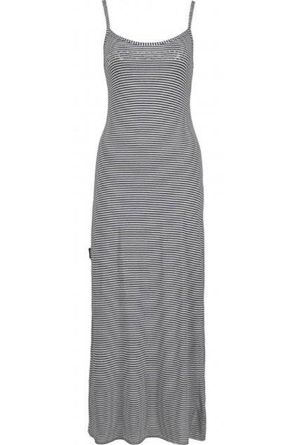 Pruhované dlouhé šaty Emporio Armani