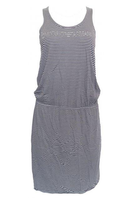 Pruhované volné šaty Emporio Armani