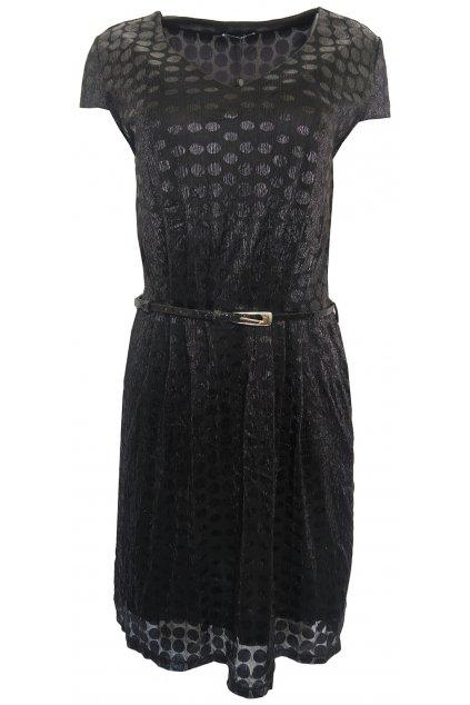Černé šaty s opaskem Patricie Bréal
