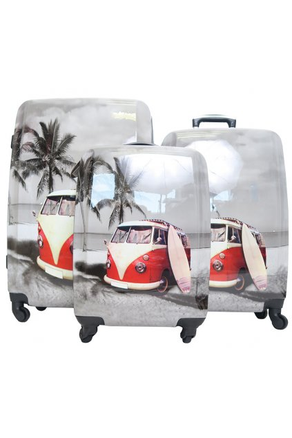 Skořepinové kufry s autobusem Borderline