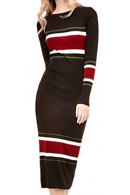 Pruhované úpletové šaty Guess