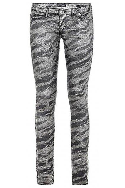 Černostříbrné kalhoty GUESS